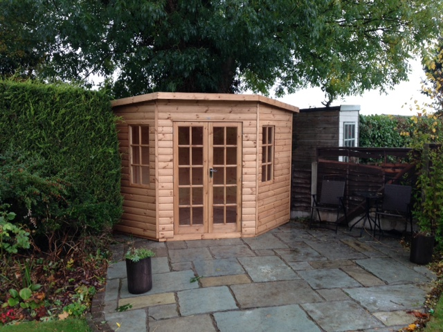Corner Summerhouse Long Eaton Fencing