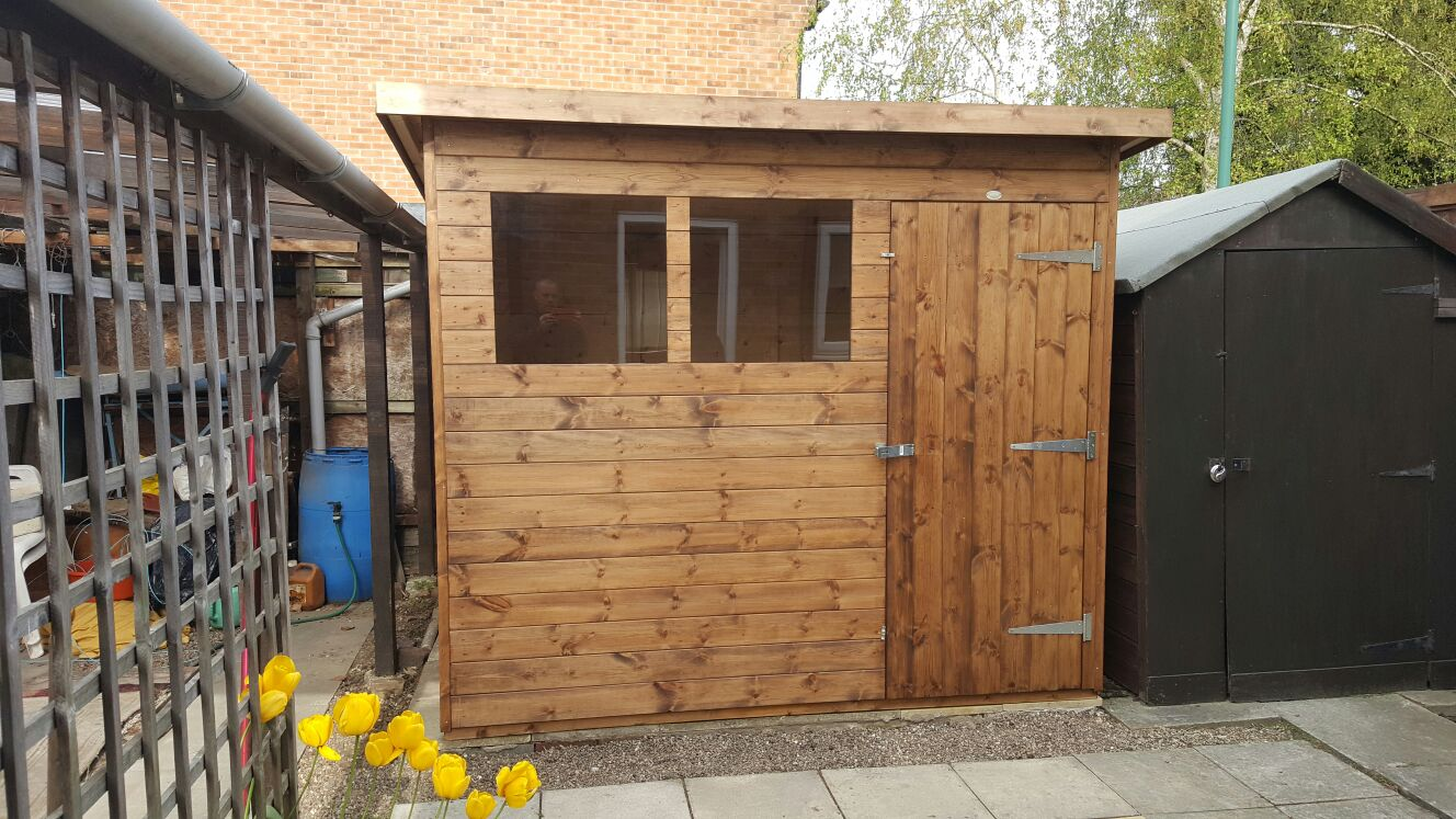 pent shed 8ft x 7ft delivered treated and erected in the meadows nottingham - Garden Sheds Nottingham