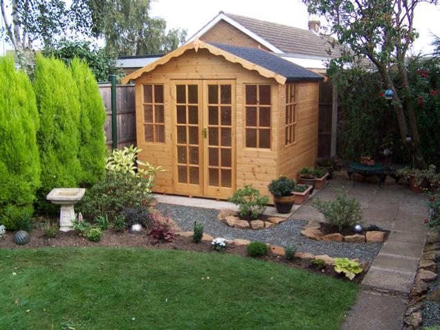 summerhouses gallery long eaton fencing. Black Bedroom Furniture Sets. Home Design Ideas