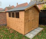10ft x 8ft Apex shed, delivered, treated and fitted in Long Eaton
