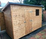 11ft x 5ft Pent shed, delivered, treated and fitted in Long Eaton.