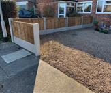 3ft high front fence fitted in Chilwell. 01.03.19
