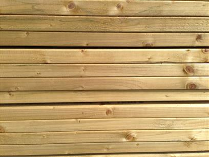 "4"" x 2"" Treated Decking Bearers Side View"