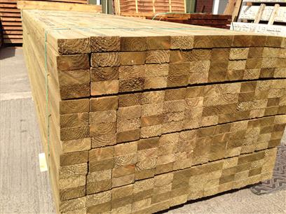 "4"" x 2"" Treated Decking Bearers"