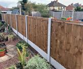 5ft high fence fitted in Sawley