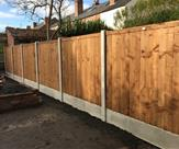 A fence we have just fitted in Beeston ready for the landscapers to begin.