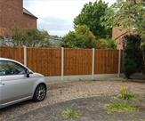 6ft high fencing supplied and erected in Long Eaton.