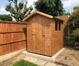6ft x 5ft Apex shed with toughened glass.