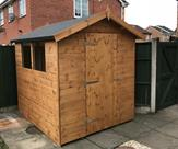 7ft x 6ft Apex shed. Delivered, treated and erected in Hucknall.