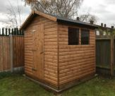 7ft x 7ft Loglap shed