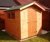 8' x 6' Apex Shed with Black Kerabit Felt