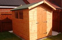 Apex Shed in Tongue and Groove Matchboard