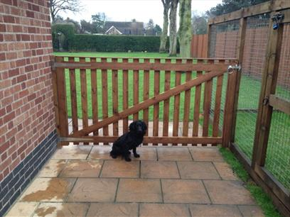 8ft wide x 4ft high Morticed and Tenoned Gate - Rear