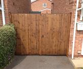 8ft wide x 6ft high Matchboard Tongue and Groove Double Gates Front Image