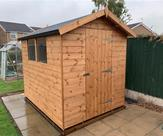 8ft x 6ft Apex shed, delivered, treated and fitted in Long Eaton 15th October 2018
