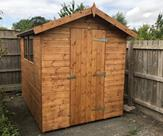 8ft x 6ft Apex shed, delivered, treated and fitted in Newbold, Leicestershire.