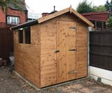8ft x 6ft Apex shed. Delivered, treated and fitted in Chilwell.
