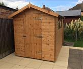 8ft x 6ft Apex shed. Delivered, treated and erected in Attenborough.