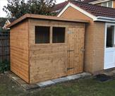 8ft x 6ft pent shed fitted in Beeston.