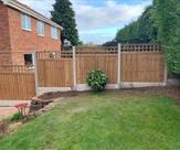 A fence with trellis tops fitted in Radcliffe on Trent.