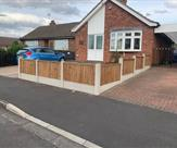 A nice 1 metre high front fence fitted in Sawley.