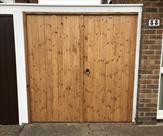 A pair of tongue and grooved matchboard gates fitted to our customers existing frame.