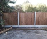 A short run of fencing we fitted in Long Eaton 20th October 2018