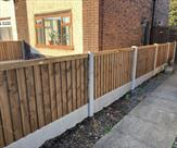 A very local job for us. A 4ft high fence on Meadow Lane Long Eaton, which is just round the corner from our yard.