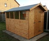 Apex shed 10ft x 6ft with four fixed windows