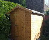 Apex shed 7ft x 5ft delivered, treated and erected in Chilwell.