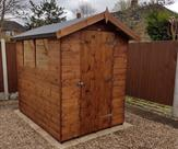 Apex shed 7ft x 5ft with toughened glass 2017