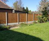Concrete posts, gravel boards and premium feather edge fence panels