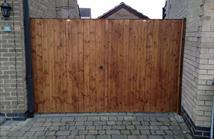 Double Mortice and Tenon Gates front