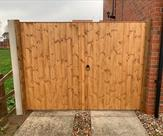 Double matchboard gates fitted in Long Eaton. 12.12.18
