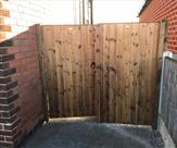 Double matchboard gates fitted in Long Eaton.
