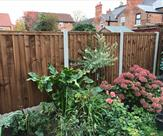 Fence erected in a small back garden in Long Eaton.