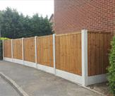 Fencing erected in Long Eaton 6ft high