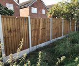 Fencing erected in Sandiacre backing onto the park.