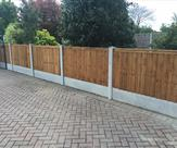 Fencing to the side of driveway in Breaston