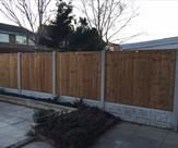 Fencing with part of it with 2 gravel boards to keep the top level.