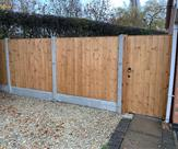 Matchboard fence panels and gate fitted in Long Eaton