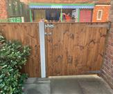 Matchboard panel and gate fitted at a local Pre-School.
