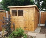 Pent shed 8ft x 7ft delivered, treated and erected in Borrowash.