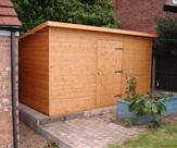 10' x 6' Pent Security Shed