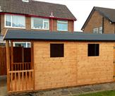 Shed and Summerhouse Bespoke Building Side View