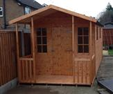 Shed and Summerhouse Bespoke Building Front View