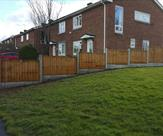Stepped fencing erecting in Castle Donington.