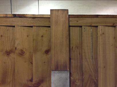 Timber Slotted Post Extender Front