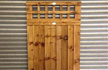 Trellis Top Feather Edge - Mortice and Tenon Joint Gate