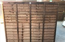 Waney Edge Fence Panel